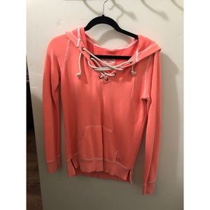 Coral lace hoodie